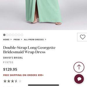 David's bridal Georgette Bridesmaids dress